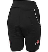 Castelli Principessa Short, Black/Whit Piping