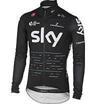 Castelli Team Sky 2017 Pro Fit Rain Jacket - Regenjacke, Black