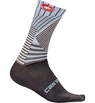 Castelli Pro Mesh 15 - calzini lunghi bici, Grey/Blue