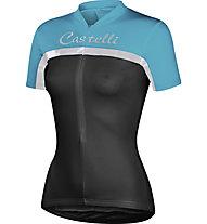 Castelli Promessa Jersey - Maglia Ciclismo, Black/Aqua/Silver