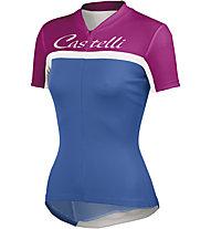 Castelli Promessa Jersey, Drive Blue/Fucsia/White