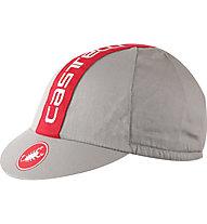 Castelli Retro 3 Cap - Radmütze, Grey/Red