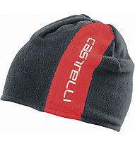 Castelli Reversible 2 Beanie - berretto bici, Red/Turbulance
