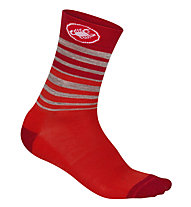 Castelli Righina 13 Sock - calze bici - donna, Red