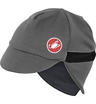 Castelli Risvolto Winter Cap, Grey/Black