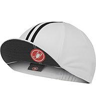 Castelli Rosso Corsa Cap - Radmütze, White/Black
