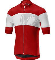 Castelli Ruota Jersey FZ - Radtrikot - Herren, Red