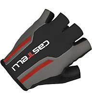 Castelli S. Due 1 Glove - Guanti Ciclismo, Anthracite/Black/Red