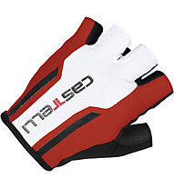 Castelli S. Due 1 Glove - Guanti Ciclismo, Red/White/Black