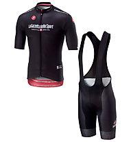 Castelli Herren-Set Giro d'Italia 2018 - Schwarzes Trikot + Radhose