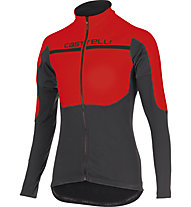 Castelli Secondo Strato Jersey FZ, Red/Anthracite