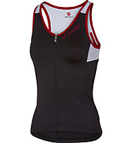 Castelli Solare Top ciclismo donna, Black/White/Red
