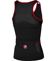 Castelli Solare - Top mit integriertem Sport-BH - Damen, Black/Red