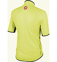 Castelli Sottile Due Shorty Giacca a vento a manica corta, Yellow Fluo/Red Zip