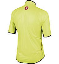 Castelli Sottile Due Shorty - giacca bici manica corta - uomo, Yellow Fluo/Red Zip