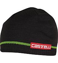 Castelli Spensierato Beanie Radmütze, Black/Sprint Green