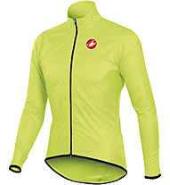 Castelli Squadra long Giacca antipioggia ciclismo, Yellow Fluo