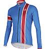 Castelli Storica Jersey FZ - maglia bici a manica lunga, Drive Blue/Ruby Red