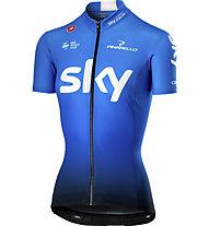 Castelli Team Sky 2019 Fan 19 - maglia bici - donna, Blue