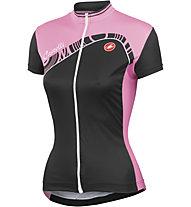 Castelli Tesoro Jersey FZ - Maglia Ciclismo, Black/Pink