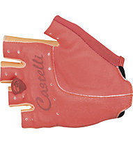 Castelli Tesoro W Glove Damen-Fahrradhandschuh, Light Orange/Coral