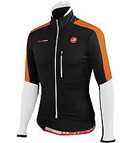 Castelli Trasparente Due Wind Jersey FZ - Maglia Ciclismo, Black/White/Orange
