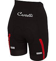 Castelli Velocissima Short - Radhose kurz - Damen, Black/Red
