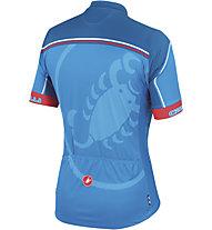 Castelli Velocissimo Giro Jersey FZ - Maglia Ciclismo, Drive Blue/Blue/Red