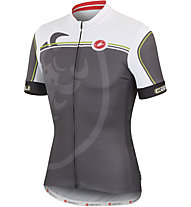 Castelli Velocissimo Giro Jersey FZ - Maglia Ciclismo, Antracite/White/Lime