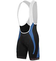 Castelli Velocissimo GT Bibshort - Pantaloncini Ciclismo, Black/Drive Blue