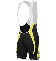 Castelli Velocissimo GT Bibshort - Pantaloncini Ciclismo, Black/Yellow Fluo