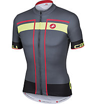 Castelli Velocissimo Jersey FZ, Grey/Red/Yellow