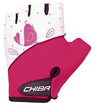 Chiba Girls - Guanti Ciclismo, Pink/White (Birdy)