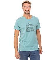 Chillaz Lettering Bus - maglietta arrampicata - uomo , Light Blue