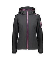 CMP Zip Hood Jacket - Wanderjacke mit Kapuze - Damen, Grey/Pink