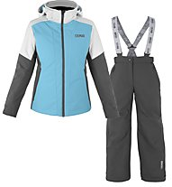 Colmar Sapporo S Girl - Komplet Ski - Mädchen, Light Blue/White/Dark Grey