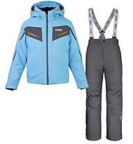 Colmar Sapporo S Set - Komplet Ski - Jungen, Light Blue/Dark Grey