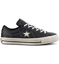 Converse One Star OX Lea Distresse - Sneaker - Herren, Black/White