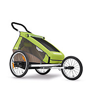 Croozer Kid for 1 Click&Crooze - Fahrradanhänger, Meadow Green/Sand Grey