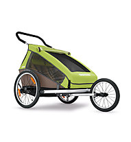 Croozer Kid for 2 Click&Crooze - Fahrradanhänger, Meadow Green/Sand Grey