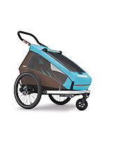 Croozer Kid Plus for 1 Click&Crooze - Fahrradanhänger, Sky Blue / Brown