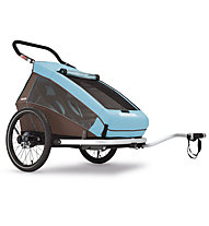 Croozer Kid Plus for 2 Click&Crooze Fahrradanhänger, Blue/Brown