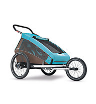 Croozer Kid Plus for 2 Click&Crooze - Fahrradanhänger, Blue/Brown