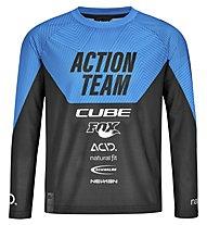 Cube Junior X Actionteam - maglia mtb a maniche lunge - bambino, Blue/Black
