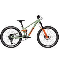 Cube Stereo 240 Pro (2021) - MTB trail - bambino, Green/Orange
