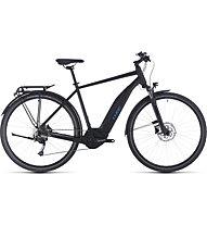 Cube Touring Hybrid ONE 400 Trapez (2020) - bici da trekking elettrica, Black/Blue