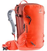 Deuter Freerider 30 - zaino scialpinismo/freeride - uomo, Red