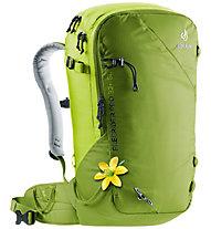 Deuter Freerider Pro 32+ SL - zaino scialpinismo/freeride - donna, Green