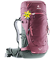 Deuter Rise 32+SL Skitourenrucksack - Damen, Dark Red/Grey