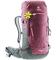 Deuter Rise Lite 26 SL - zaino scialpinismo - donna, Dark Red/Grey